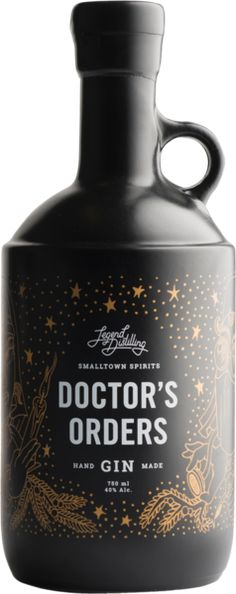 Legend Distilling has created Doctor's Orders Premium Handmade Gin: Effective relief from generic gin. Triple Sec, Cocktails, Alcoholic Drinks, Beverages, Coconut Cupcakes, Ginger Ale Gin, Buy Alcohol, Gin Recipes, Root Beer