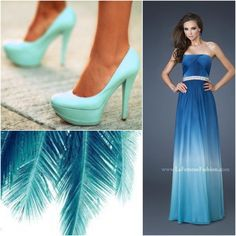 Marine Ball Dresses, Prom Dresses Blue, Homecoming Dresses, Formal Dresses, Fancy Hairstyles, Feather Print, Dress Makeup, Collages, Dress Up