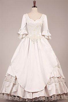 Victorian Wedding Gown Cartier - hippie victorian wedding dress new style vintage long sleeves wedding dresses ball gown lace bridal ball gowns dresses from babybridal Victorian Gown, Victorian Costume, Victorian Fashion, Victorian Wedding Dresses, Dress Wedding, Victorian Art, Medieval Wedding, Gothic Fashion, 1800s Fashion