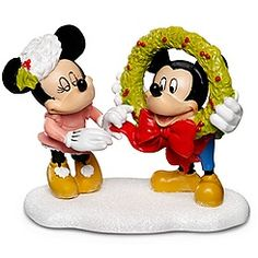 ''Decorating Mickey'' Minnie and Mickey Mouse Figurine by Dept. 56