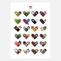 Versus Heart Poster Large 23x33 now featured on Fab.