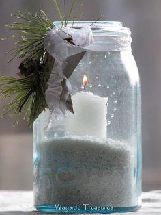 Jar candle.