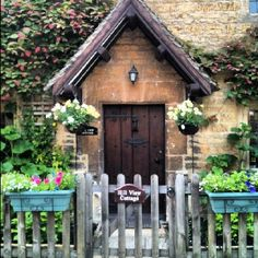 Cottage Door and Gate!