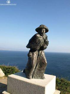 Fisterra Pilgrim Statue. Galicia, Spain.