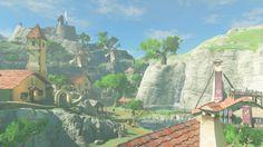 Il director di The Legend of Zelda: Breath of the Wild parla della mancanza di dungeon nel gioco - Multiplayer. The Legend Of Zelda, Legend Of Zelda Breath, Breath Of The Wild, Link Lobo, Nintendo Switch, Village Map, Fantasy Landscape, Environmental Art, Animal Crossing