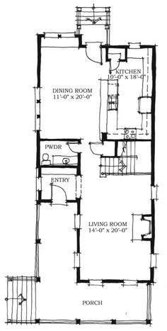 Historic Southern House Plan   Southern House Plans  House    Historic Southern House Plan Level One