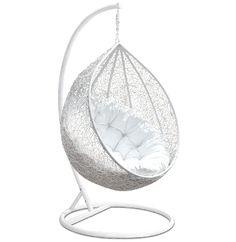 The Beautiful White Eclipse Hanging Egg Chair Is Also Available With A  Contrasting Black Plush Cushion.. How Bold Will You Go??