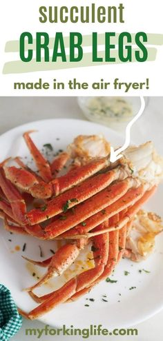 If you're a fan of crab legs you're going to LOVE this recipe. Now you can make your favorite dish in the air fryer! These crab legs cook up perfectly tender and juicy with less than 15 minutes in the air fryer and some old bay seasoning. They're great for when you're craving seafood but don't have time for a whole seafood boil. New Recipes For Dinner, Air Fryer Dinner Recipes, Air Fryer Recipes, Great Recipes, Seafood Menu, Seafood Recipes, Seafood Boil, Easy Fish Recipes, Easy Meals