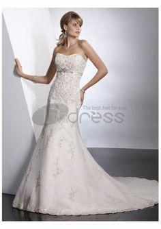 Abiti da Sposa Senza Spalline-Splendidi bei abiti da sposa senza spalline casuale