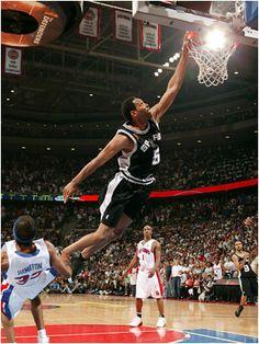 Robert Horry. 'Big Shot Bob'. Dunk over Hamilton in the 2005 NBA finals.