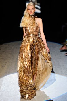 Gorgeous Leopard Evening Gown...with so much Shine! _ Salvatore Ferragamo - Spring Summer Collection 2012 : Passion For Luxury