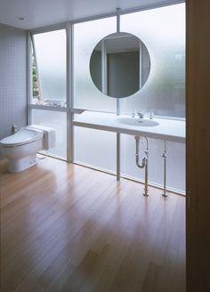 "bathroom   at private house ""minamikawa house""   osaka, japan   by yoshihara mcKee architects."