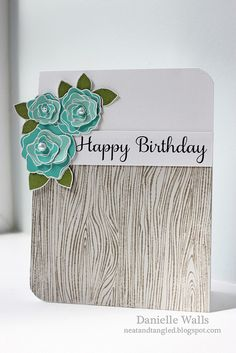 Change it up - stamp Impression Obsession  woodgrain .... use kraft as base, Memory Box flower dies, and twill tape with message stamped on it .... gotta do it!