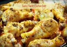 Spicy Garlic Baked Chicken Legs - Beyer Beware