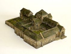 Wargame News and Terrain: Total Battle Miniatures: New 6mm Early Medieval Motte and Bailey Fort and Cloistered Abbey