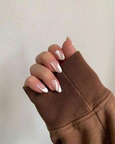 Best Acrylic Nails, Acrylic Nail Designs, Almond Acrylic Nails, Designs On Nails, Brown Nail Designs, Easy Nail Designs, Colourful Acrylic Nails, Manicure Nail Designs, Almond Nail Art