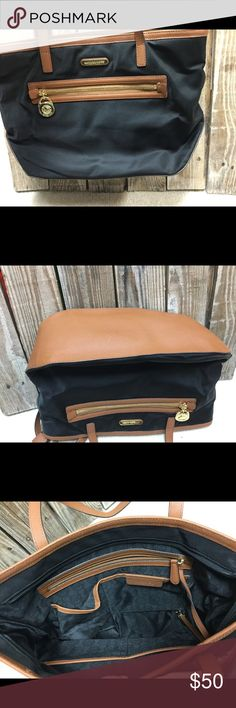 Michael Kors Black/Brown Purse Michael Kors Black/Brown Purse- used several times. Excellent condition. No marks. Michael Kors Bags Totes