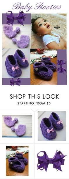 """Baby Booties"" by cozeequilts ❤ liked on Polyvore"