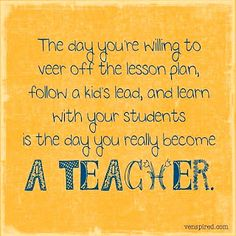 The day you really become a TEACHER