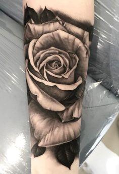 6fa5376394dd2 Black & Gray Rose Tattoo Black Rose Tattoos, 3d Rose Tattoo, Rose  Tattoos