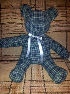 Bear I made for someone out of their loved ones clothing.