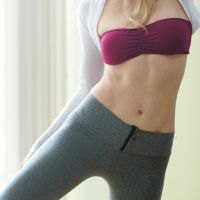flat abs - no crunches. moves that also work other parts. ;)