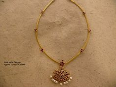 Gold Jewelry With Price Info: 2310010823 Gold Necklace Simple, Gold Jewelry Simple, Simple Necklace Designs, Gold Earrings Designs, Gold Jewellery Design, Silver Jewellery, Gold Designs, Designer Jewellery, Silver Rings