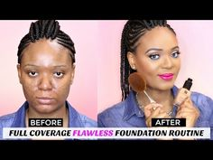 Full coverage foundation routine,  concealing hyperpigmentation