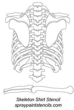 Canny image regarding skeleton costume template printable