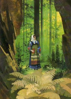 """Mountain Master"""" Tales of Pavel Bazhov illustrated by Vyacheslav Nazaruk"""
