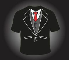 Tuxedo Tee Winchester Model with Red Tie, Love this one something about the name