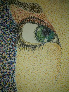 Pointalism eye by Amanda Land