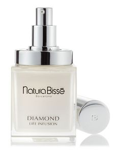Diamond Life Infusion by Natura Bisse at Neiman Marcus.    A powerful rejuvenating night treatment exclusively designed to treat skin ages 35 and over capable of regulating the SKIN AGE BIOMARKERS that prolongs the life span of skin cells and slows the aging process to preserve the youth of the skin through a natural magnetite.