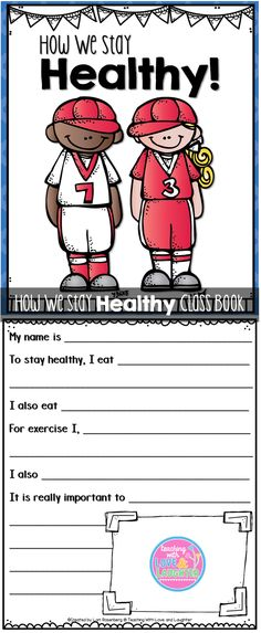 Encourage good, healthy habits in your students by having them complete this class book. This will surely be a book they read over and over again!I