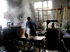 Tofu workshop by zhaiweidong on Yangzhou, China Story Inspiration, Character Inspiration, Yangzhou, Rural Area, High Fantasy, China Travel, Street Food, Tofu, Mists