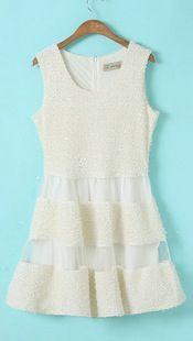 To find out about the White Sleeveless Contrast Mesh Yoke Sundress at SHEIN, part of our latest Dresses ready to shop online today! Color Copies, Teen Fashion, Womens Fashion, Romantic Look, Mesh Dress, Latest Dress, Cute Dresses, How To Look Better, White Dress