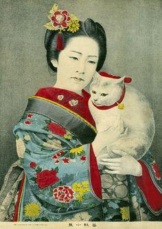 Geigi Koiku and her Cat 1883   Flickr - Photo Sharing!