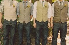 love the idea of casual-formal with vests and jeans :)