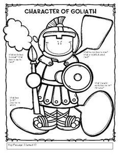 david and goliath coloring pages and coloring page and