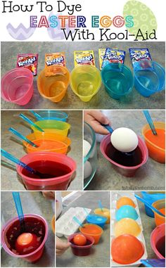 How To How To Dye Easter Eggs With Kool-Aid. So easy!
