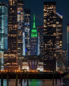 Tower Light, Famous Buildings, Custom Lighting, New York Travel, Gotham, Empire State Building, Location History, Light Up, New York City