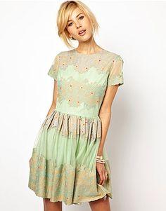 ASOS Fashion Finder | ASOS Skater Dress with Applique Flowers