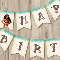 MOANA BIRTHDAY BANNER, Custom Name Moana Birthday Banner, Moana Birthday Decoration, Printable Moana Birthday Banner by kimberlyjdesign on Etsy https://www.etsy.com/listing/518896042/moana-birthday-banner-custom-name-moana