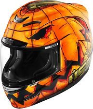 Icon Airmada Trick or Street Motorcycle Helmet All Sizes SM MD LG XL 2XL 3XL
