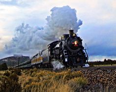 Full Steam Ahead! 2 by Alisha Johnson on Capture My Arizona // This is one of the Grand Canyon Railways prized,  converted steam engines.  It was a beautiful thing to see even if it was starting to snow!