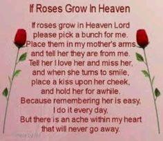 birthday poems for mothers in heaven | In Loving Memory / Rose
