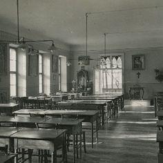A soproni Szt. orsolya rendiek intézete: az internátus növendékeinek nappali terme