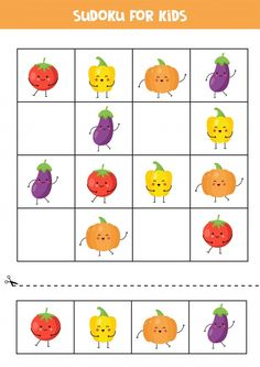 Sudoku Puzzles, Puzzles For Kids, Worksheets For Kids, Cupcakes Bonitos, Vegetable Cartoon, Educational Games For Kids, Printable Calendar Template, Printable Christmas Cards, Kids Calendar