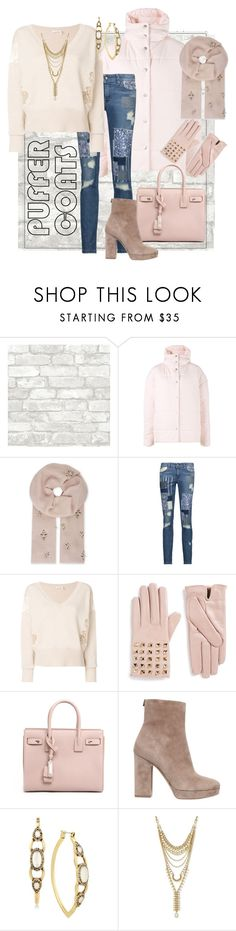 """""""You're Making Me Blush"""" by bigskydreams ❤ liked on Polyvore featuring A.W.A.K.E., Janavi, Just Cavalli, Chloé, Valentino, Yves Saint Laurent, Salvatore Ferragamo and Lucky Brand"""