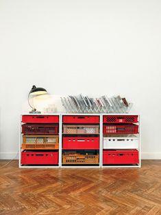 And great details in furniture designer Christiane Högner's home in Brussels.